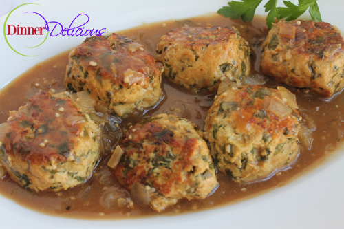 Ground Chicken And Spinach Meatball Marsala