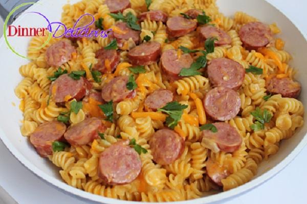 EasySkillet Pasta with Kielbasa