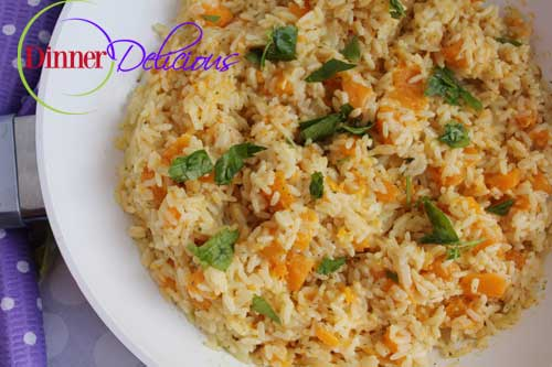 Easy rice with butternut squash