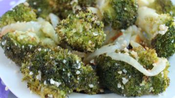 Best Roasted Garlic-Parmesan Broccoli EVER