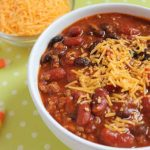 Bowl of Simple Homemade Chili