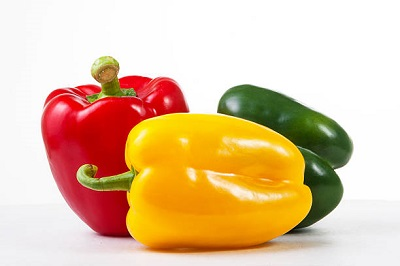 different colored peppers