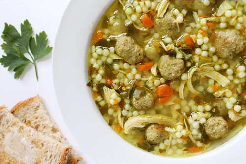 Crockpot Italian Wedding Soup with Chicken and Meatballs so Delicious