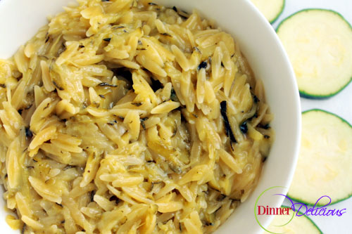 Creamy Lemon Orzo Pasta with Zucchini