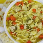 Bowl of Chicken noodle-soup