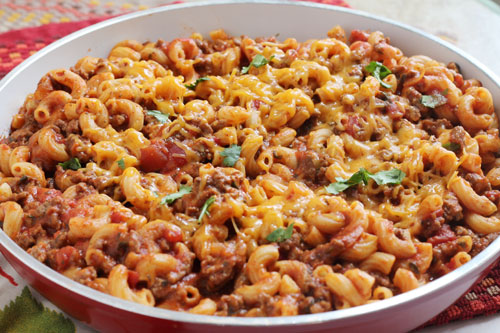 chili mac made in just one pot