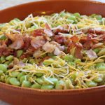 baked lima beans with cheese and bacon