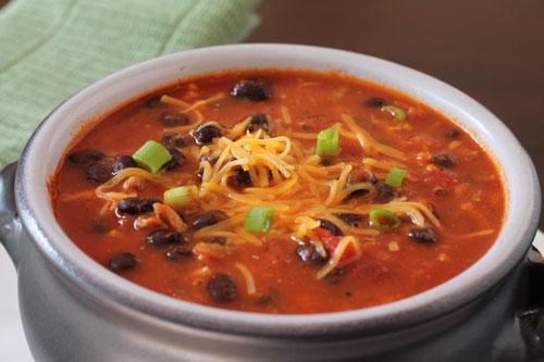 turkey and black bean chili
