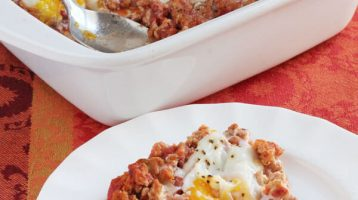 Ground Turkey with Salsa and Eggs