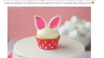 Cutest Easter Bunny Cupcakes