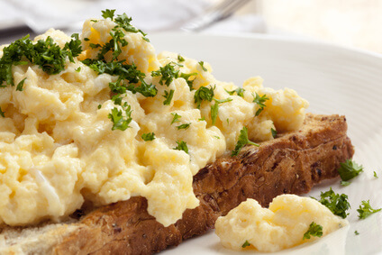 Perfect Scrambled Eggs on Toast