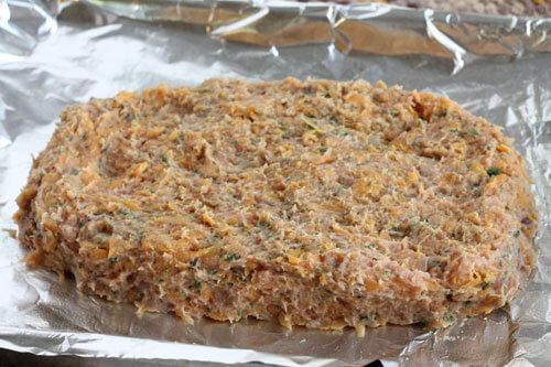 Turkey Sweet Potato Meatloaf Raw