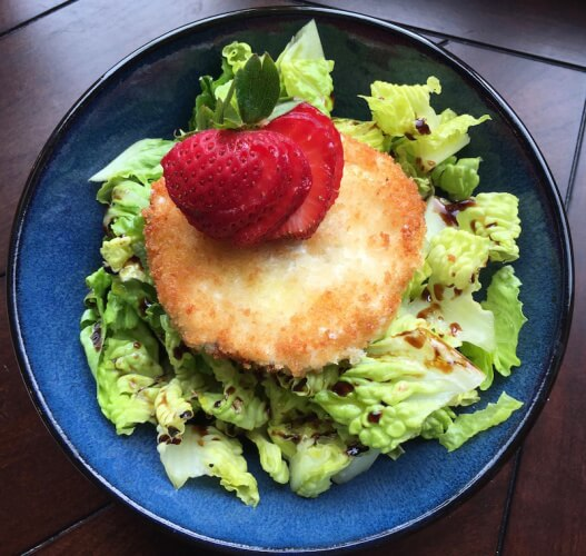Mixed Green Salad with Warm Goat Cheese