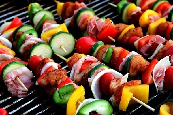 grilled summer shish kebabs