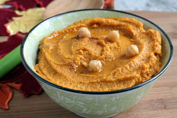 delicious creamy pumpkin hummus