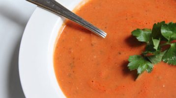 Recipe for homemade creamy tomato soup