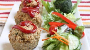 Healthy Turkey Meatloaf Muffins
