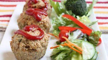 Healthy Turkey Meatloaf Muffins