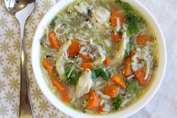 Easy Crockpot Chicken and Wild Rice Soup using Uncle Ben's Wild Rice