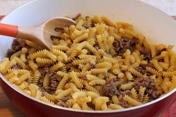 Easy One Skillet Enchilada Pasta - step 1