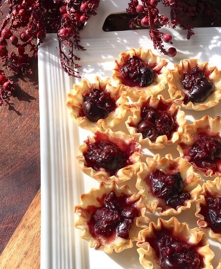 Delicious Holiday Appetizer made with Phyllo Dough