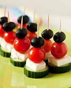 healthy salad on a stick