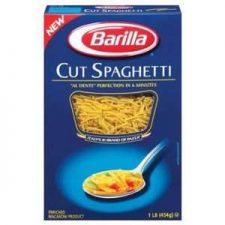 cut spaghetti for a hearty minestrone