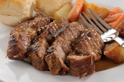 cooking roast in a pressure cooker