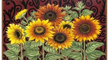 sunflower rugs for the kitchen