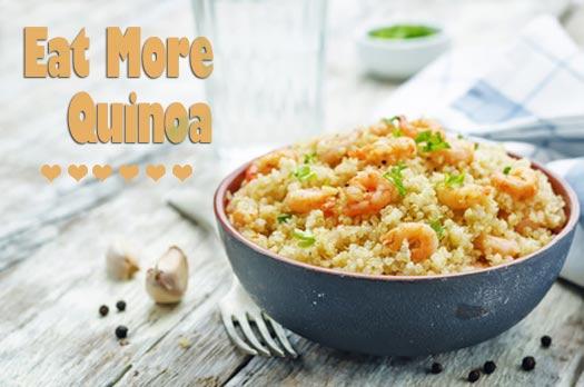why we should eat more quinoa and a big bowl
