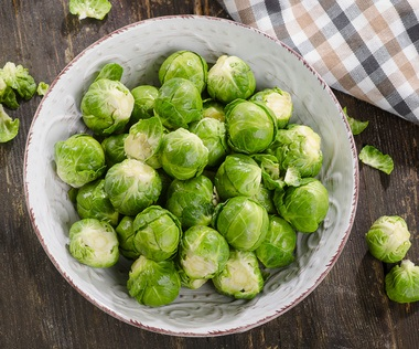 Brussel sprouts fresh and pan roasted