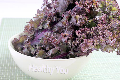 healthy red kale