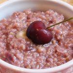 oatmeal with fresh cherries