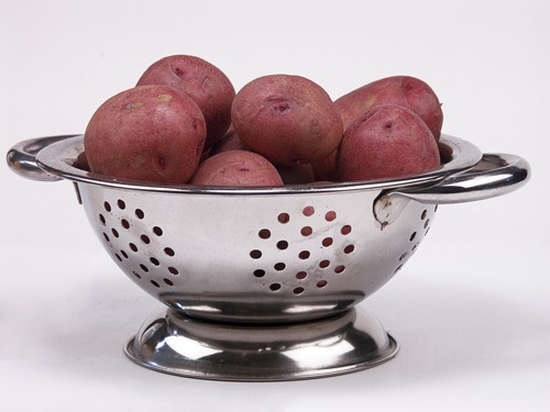 Boiled Red potatoes for  salad