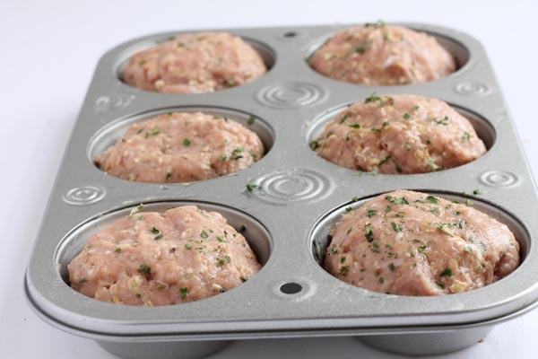 Swedish Meatball Muffins Ready to bake in the oven