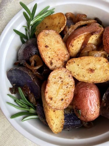 Roasted Rosemary Potatoes to go with Flank Steak