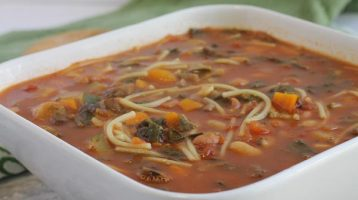 Garden Vegetable Minestrone Soup