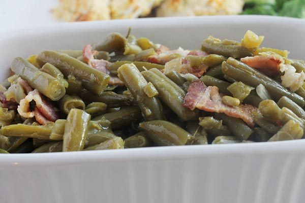 Green Beans with Bacon Cooked