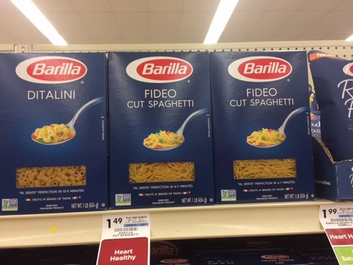fideo noodles in the grocery store