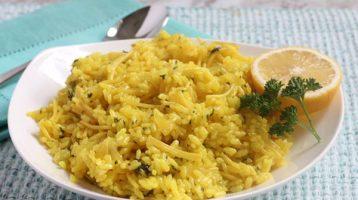 Greek Lemon Rice Pilaf Recipe