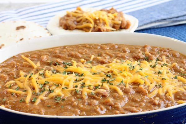 the best refried beans in your crockpot