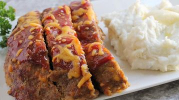Easy Cheesy Cheddar Cheese Meatloaf Recipe