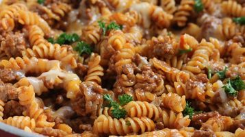 Manwich Pasta with Manwich Sauce in One Pot