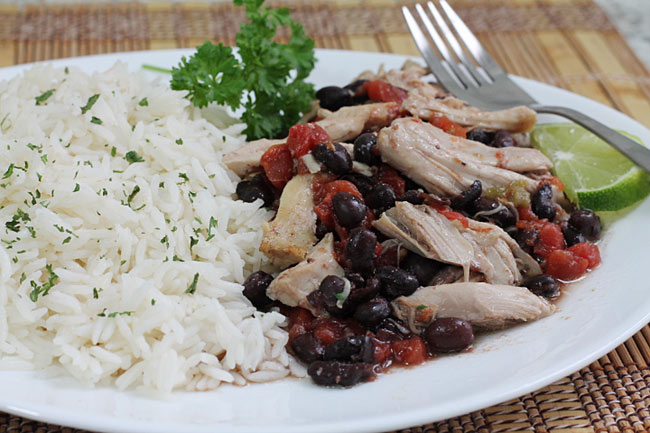 Mexican Chicken with Black Beans and Tomatoes