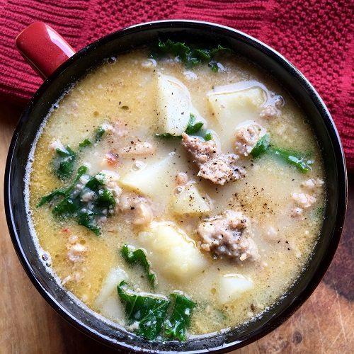 Crockpot Tuscan Soup with Sausage and Potato