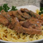 Beef Stroganoff with Red Wine No Mushrooms