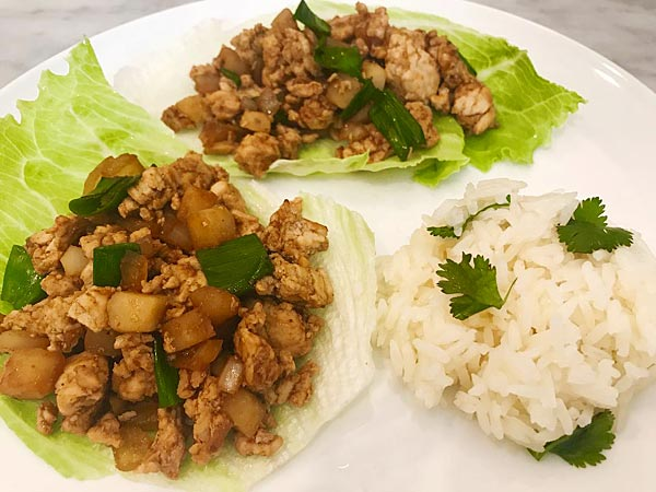Chinese Chicken Lettuce Wraps