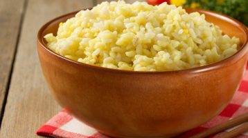 Garlic Rice with Onions and Parmesan Cheese