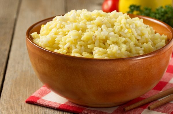 Garlic Rice cooked in broth with soup base