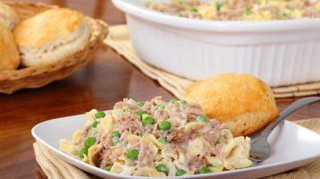 Quick Skillet Creamy Tuna Noodle Recipe